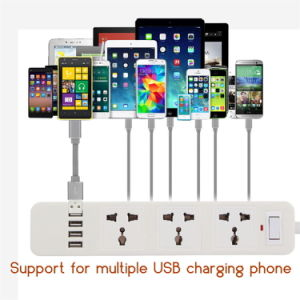 Power Strip EU UK Socket with 4 USB Standard Extension pictures & photos