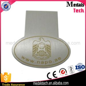 Promotional Stainless Steel Mirror Polished Custom Laser Engraved Money Clips pictures & photos