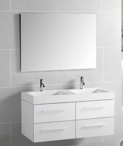 Four Drawers MDF Bathroom Cabinet with Resin Basin pictures & photos