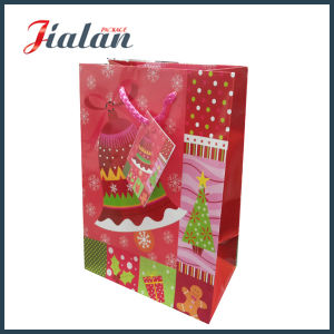 Santa Clause Printed Merry Christmas Day Wholesales Candy Paper Bag pictures & photos