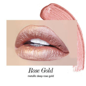 2017 New Sexy Rose Gold Metallic Liquid Lipstick pictures & photos