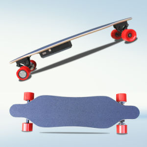 Wholesale Belt Motor 4 Wheels Electric Mini Longboard Skateboard pictures & photos