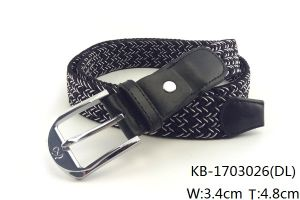 New Fashion Men Woven PU Belt (KB-1703026) pictures & photos
