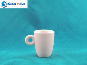 Customized White Porcelain Mug with Company Logo Printed with Round Handle pictures & photos