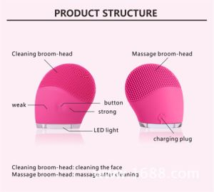 Massager/Cleansing Brush Silicone Beauty Machine Ce/RoHS/FDA Approved pictures & photos