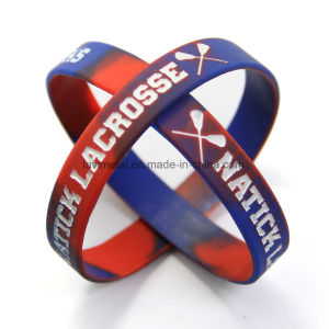 Custom Lacrosse Sport Debossed Rubber Band with Color Filled in pictures & photos