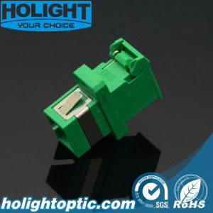 Shutter Adaptor Sc/APC Simplex Singlemode Green with Flange pictures & photos