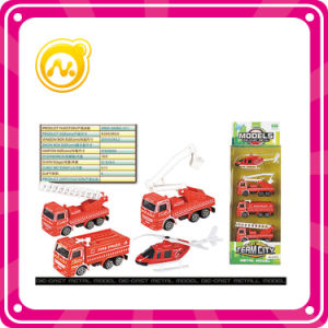 Slide Fire Fighting Alloy Car with 4 Kinds Team City