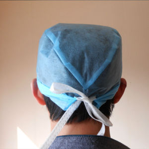 Disposable Spunlace Doctor Cap with Ties for Operation pictures & photos