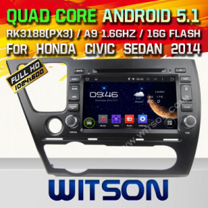 Witson Android 5.1car DVD for Honda Civic Sedan 2014 (W2-A7023) pictures & photos