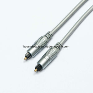 Metal Connector Digital Optical Fiber Toslink Audio Cable pictures & photos