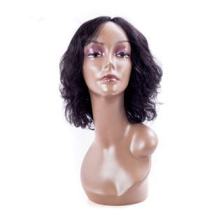 Curly Human Hair Short Size Front Lace Wig 8inches pictures & photos