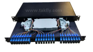Sc 48 Ports FTTH/FTTX Optical Rack Mounted Fixted Type ODF pictures & photos