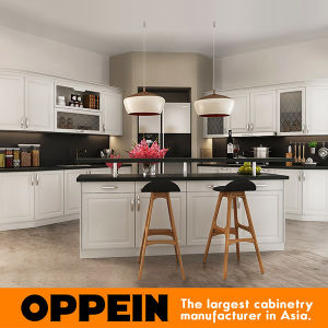 Oppein Europe Style White Kitchen Cabinet Small Kitchen Furniture (OP16-PVC07) pictures & photos