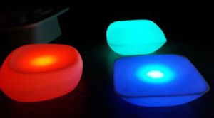 New LED Low Bar Table Furniture With Colorful Light (HC1014)