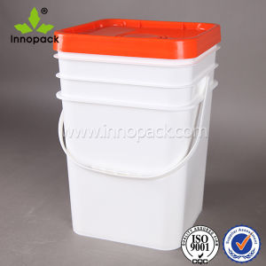 20 Liter Square Plastic Pail with Lid for Paint Wholesale pictures & photos