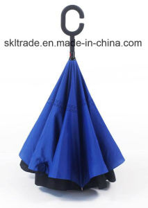 Sheer Colours Portable Handsfree Straight Reverse Inverted Umbrella pictures & photos