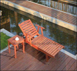 Solid Wood Pattaya Chaise Lounge & Tea Table pictures & photos