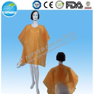 Disposable Hair Cutting Cape Waterproof Hairdressing Caps Gowns pictures & photos