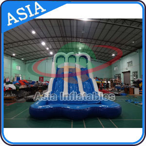 Heavy Duty 0.5mm PVC Inflatable 3 Lanes Water Slide pictures & photos