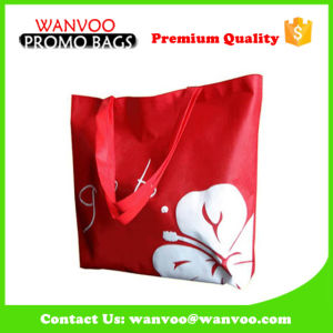 Promotional Printing Red Butterfly Pattern Lady Handbag pictures & photos