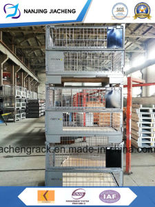 Powder Coated Stackable Pallet/Custom Steel Storage Box/Wire Mesh Containers pictures & photos