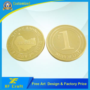 Cheap Custom Zinc Alloy Gold Plated Souvenir Money Coin in China Factory (XF-CO26) pictures & photos
