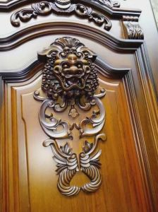 Double Leaf Entry Wooden Main Door Designs for Home (GSP1-025) pictures & photos