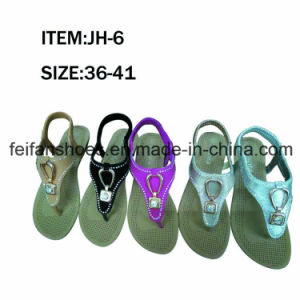 Newest Women Casual Sandal Flat Shoes Good Quality Slippers (FFJH-6) pictures & photos