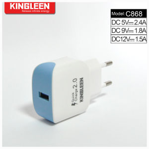 Kingleen Model C868 Quick Charger 2.0 Single USB Battery Charger Factory Outlet pictures & photos