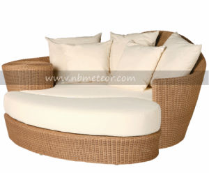 Mtc-203 PE Rattan Wicker Modern Sofa Bed Outdoor Garden Sunbed pictures & photos