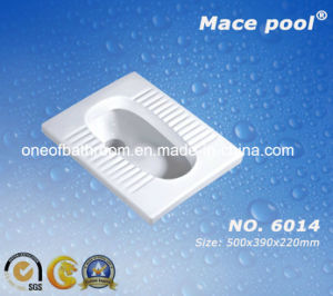 Toilet Ceramic Squatting Pan for Bathroom (6014) pictures & photos