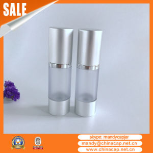 15ml 30ml 50ml 100ml Matte Silver Airless Pump Cosmetic Serums Bottle pictures & photos