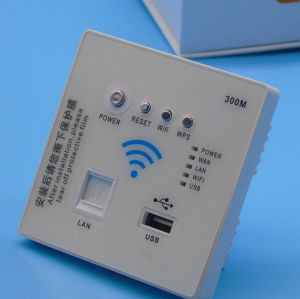 Original New Wall-in Panel WiFi Wireless Router with 300Mbps