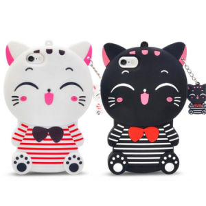 Smile Cat Cute Cartoon 3D Anime Silicone Phone Case pictures & photos