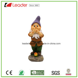Lovely Resin Garden Gnome Figurine Speak No Evil for Home and Lawn Decoration pictures & photos