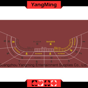Casino Table Layout -9p (Red color) (YM-BL100G) pictures & photos