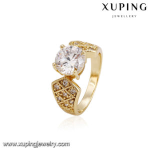 14232 Fashion Gold-Plated Cubic Zirconia Women′s Ring for Valentine′s Day pictures & photos