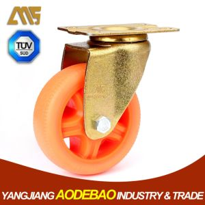Light Duty Golden Plating Swivel TPR Caster Wheel