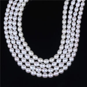 AAA 8-9mm Rice Shape Freshwater Pearl Loose Beads for Making Bracelet Necklace pictures & photos