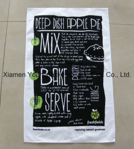 Promotional Custom Printed White 100% Cotton Kitchen Tea Towel pictures & photos