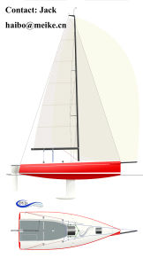 30′ Fiberglass Dibley Sailing Yacht Racing Yacht Sailboat Hangtong Factory-Direct pictures & photos