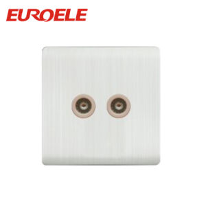 Double Aluminum Plate Power TV Socket and Satellite Socket pictures & photos