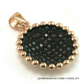 Fashion Accessories Earring with Black Spinel Sunflower Shape (SE3315B) pictures & photos