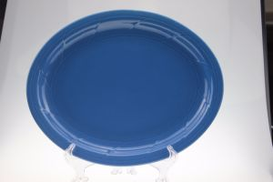 9.5′ Colored Glaze Fish Dish with Edged Wave Design pictures & photos