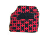 Car Carpet Flat Foot Pad Check Pattern pictures & photos
