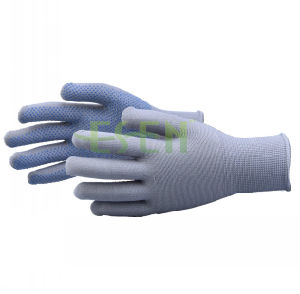 7/10/13 Gauge Bleached White PVC Dotted Cotton Gloves Driving Farming Useful Work Glove pictures & photos