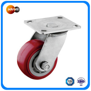 Heavy Duty Red PU Swivel Casters pictures & photos
