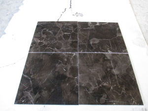 China Building Material Natural Stone Cut to Size Dark Emperador Marble Slab for Bathroom/Floor/Countertop/Stair pictures & photos