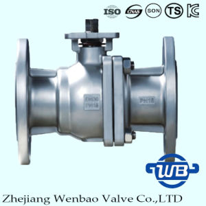 DIN F4/F5 Two Piece 304 Flange Ball Valve Fro Industry pictures & photos